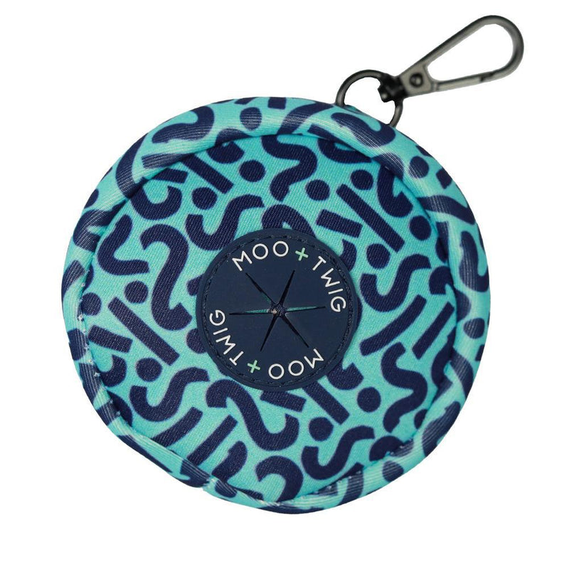 DOG POOP BAG POUCH - Bark Shark (Squiggles)