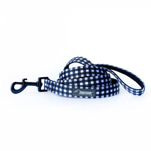 NEOPRENE DOG LEASH - Classic Gingham