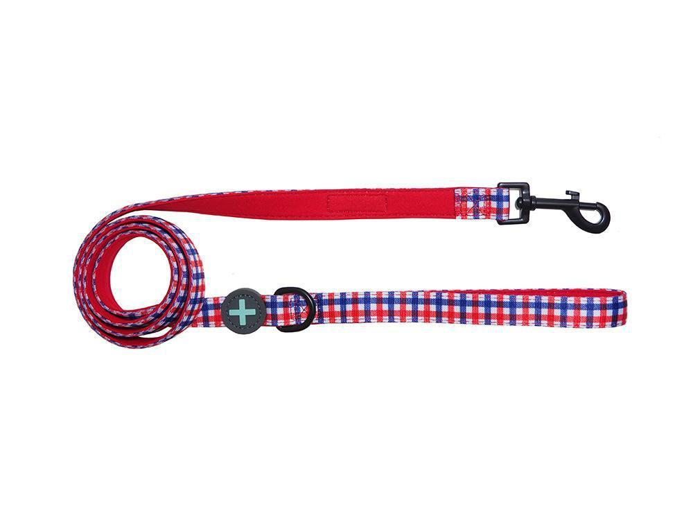 Checkered Neoprene Comfort Dog Leash