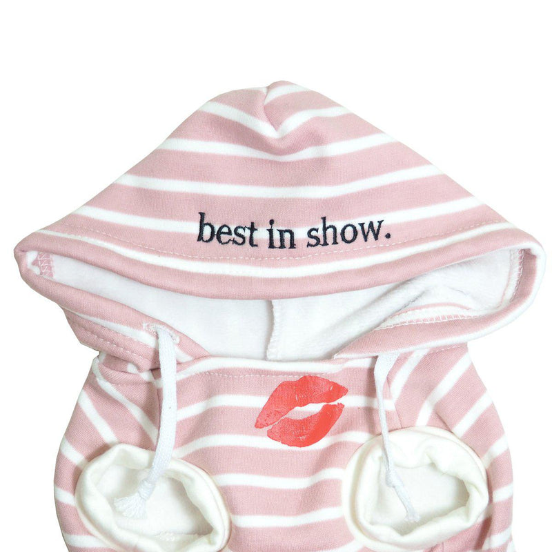 Pink Best In Show Dog Hoodie With Kiss