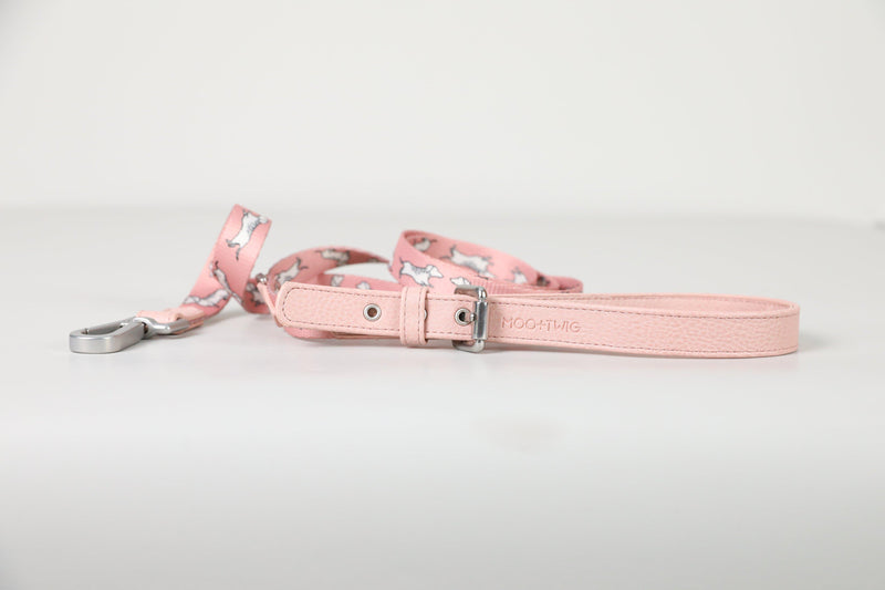 Vegan Leather Dog Leash - Adjustable Dachshund Leash - Cafe Dog Leash - Leash with dachshund print - Dog Leash Australia