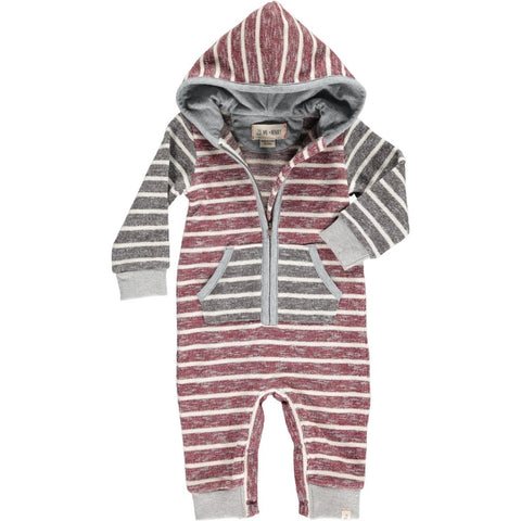 Wine Hooded Romper - Me + Henry Fall 2019  341b
