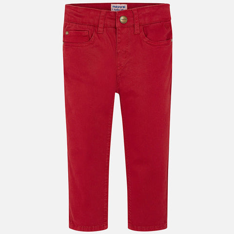 Regular Fit Pants in Red - Mayoral Boy 41 - Fall 2019