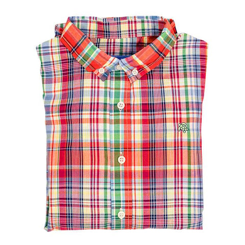 Roscoe Button Down Shirt in Autumn Plaid - Bailey Boys J Bailey Fall 2019 309