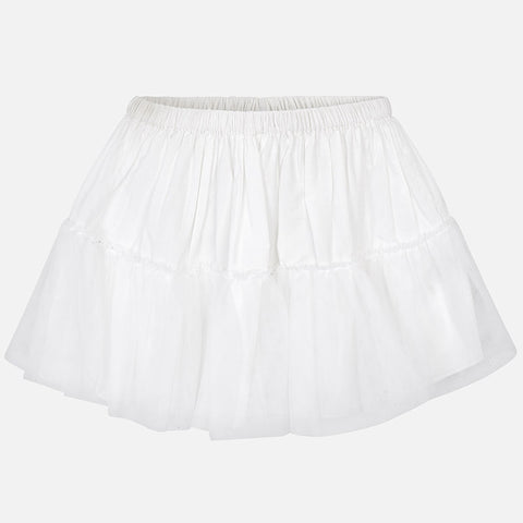 White Tulle Underskirt/Petticoat for Girls: Mayoral 10617