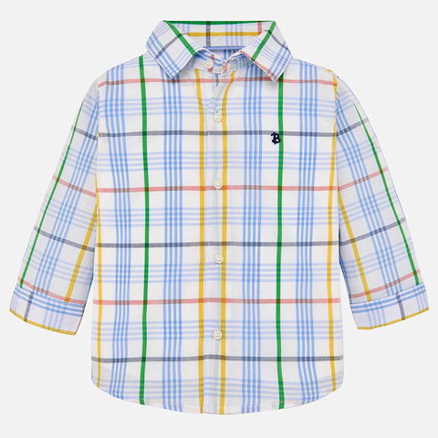 254692a29148 Long Sleeve Buttondown for Boys  Mayoral Spring 2019 - 1135 – 2 Girls   a  Dog