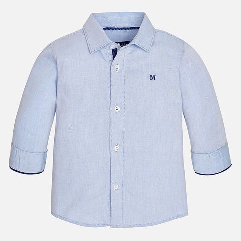Light Blue Button Down Baby Boy 124 -  Mayoral