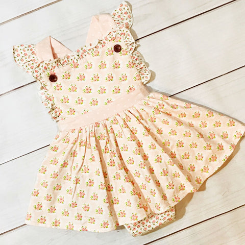 Blush Petal Dainty Bubble SBS14 - Swoon Baby Clothing Spring 2020
