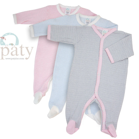Rib Knit Footie - Paty Inc RB1502