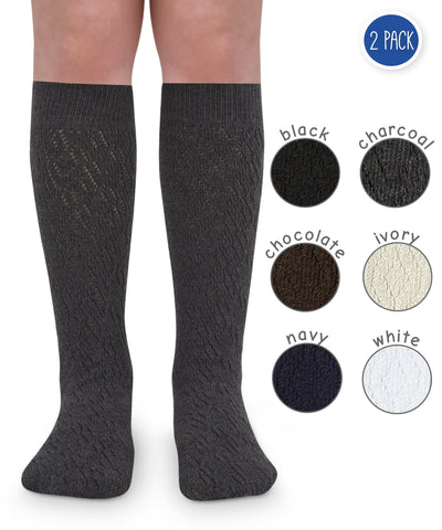 Pointelle Knee High 2 PK - 1638 Jefferies Socks