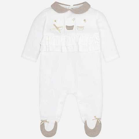 PJ's With Long Sleeves And Ruffles Infant Girl Mayoral 1706