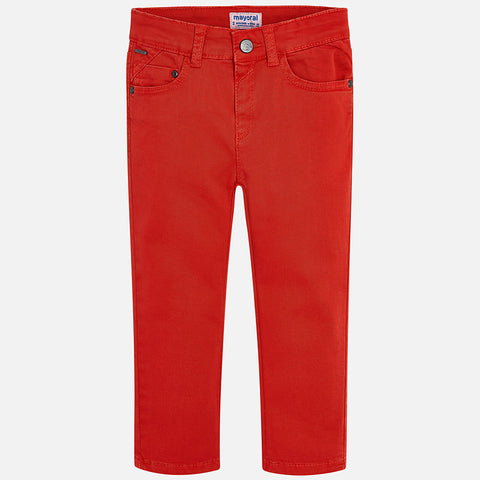 Boy Regular Fit Pants in Burnt Orange Color - Mayoral 41