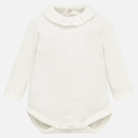 Baby Girl Basic Bodysuit in Ivory Mayoral 125 -Fall 2018