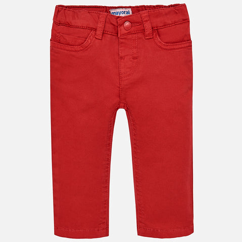 Boy Toddler Regular Fit Crimson Red Pants - Mayoral 501