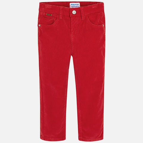 Boy Corduroy Slim Pants in Red - Mayoral 537