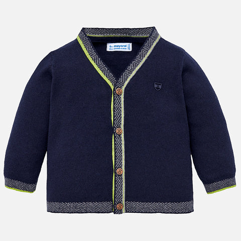 Boy Knit Cardigan in Navy - Mayoral 2342