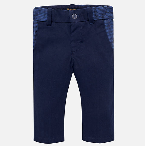Boy Navy Slim Chino Pants - Mayoral 2560 - Fall 2018
