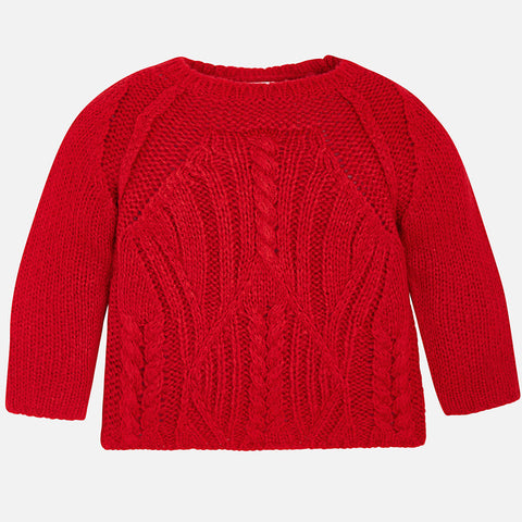 Red Sweater  - Mayoral Girl 4324 - Fall 2018