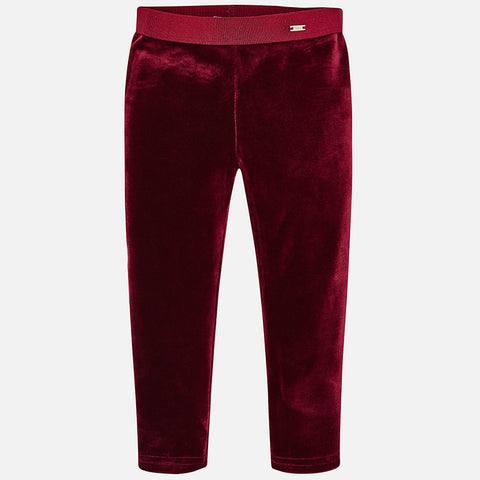 Raspberry Velvet Leggings - Mayoral Girl 4700