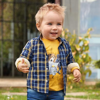 Fleece Lined Over Shirt Mayoral Toddler Boy  - Fall 2019