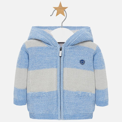 Woven Knit Jacket in Blue Stripe Infant Boy Mayoral  2311  Fall 2019