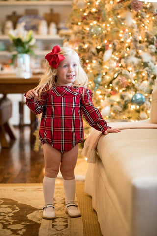 Susan Red Tartan Bubble - The Oaks Apparel 5530