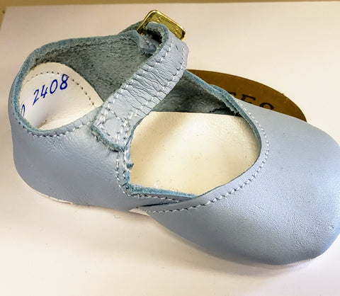 Blue Mary Jane Crib Shoes by Shoo-Zees Alice 2408