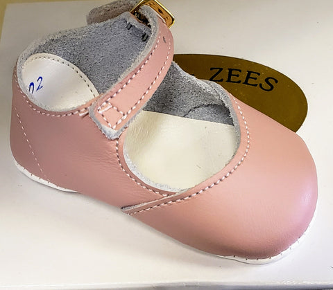 Pink Mary Jane Crib Shoes by Shoo-Zees Alice 2402