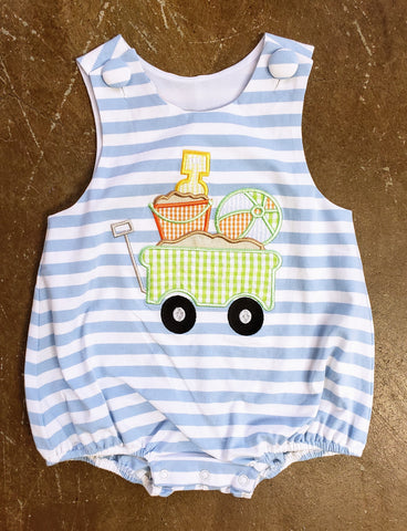 Boys Beach Wagon Applique Sunsuit Banana Split 278 Spring 2019