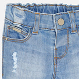 Distressed Denim w/ Bead Work - Mayoral Baby Girl 2581