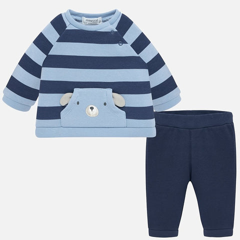 Striped Plush Bear Tracksuit - Mayoral Boy 2620 -Fall 2019