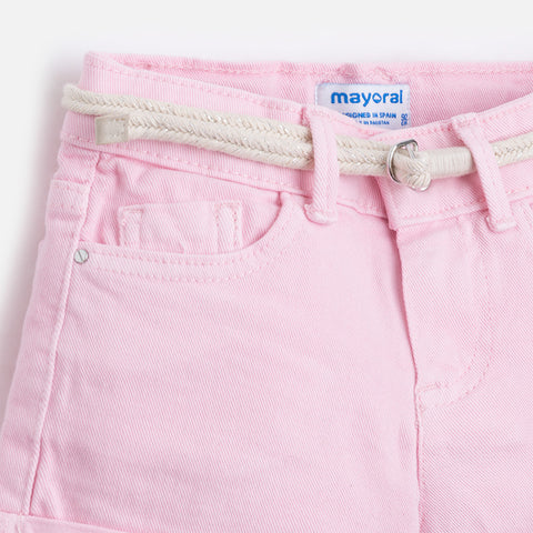 Twill Shorts Girls 234 (76 Rose) Mayoral Spring 2020