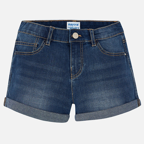 Denim Shorts Tween Girl 235 ( 32-Dark Denim) Mayoral Spring 2018