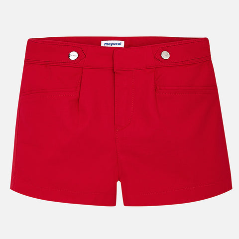 Satin Poplin Shorts Tween Girl 6204 (17 Red)  Mayoral Spring 2020