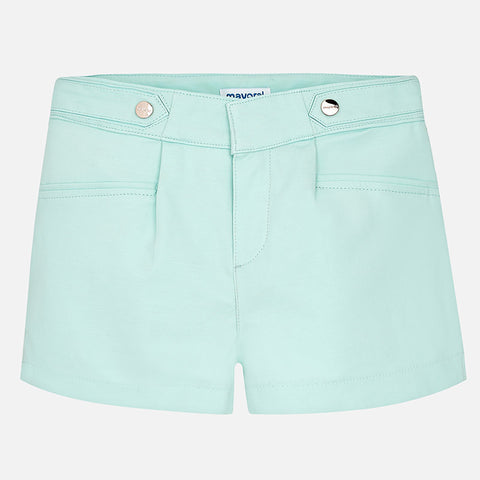 Satin Poplin Shorts Tween Girl 6204 (20 Aqua)  Mayoral Spring 2020