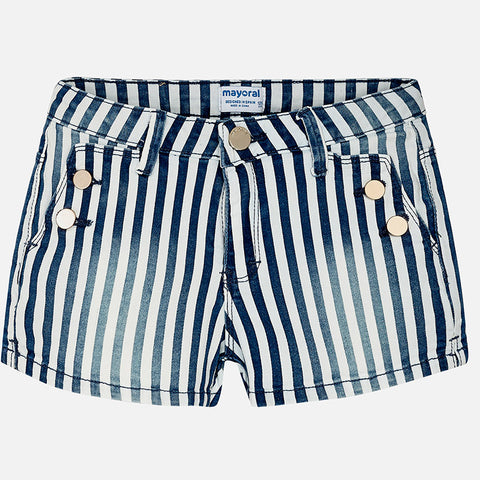 Striped Twill Shorts Tween Girl 6212  Mayoral Spring 2020