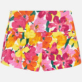 Flower Print Shorts Girl Mayoral 3203
