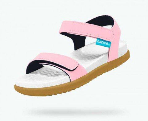 Native Charley Sandal -  Princess Pink/Shell White/Toffee Brown