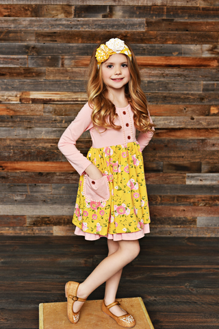 Posie Tie Pocket Dress SBF20 - Swoon Baby Clothing Fall 2019