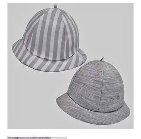 Reversible Striped Hat in Silver Infant Boy  Mayoral  9030