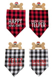 Buffalo Check Holiday Dog Bandanas - Mudpie Fall 2018 Puppy Collar