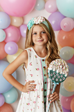 Mint Sorbet Prim Dress SBS41 - Swoon Baby Clothing Spring 2020