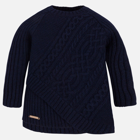 Navy Braided Sweater Girl 4319 -  Mayoral