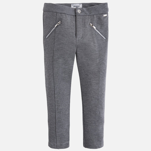Grey Dress Pants w/ Zippers Little Girl 4719 -  Mayoral