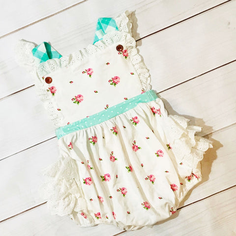 Mint Sorbet Frilly Bubble SBS47 - Swoon Baby Clothing Spring 2020