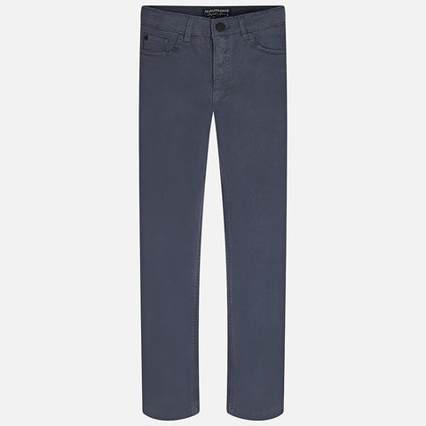 Navy Regular Fit Twill Trousers Big Boy 51 -  Mayoral