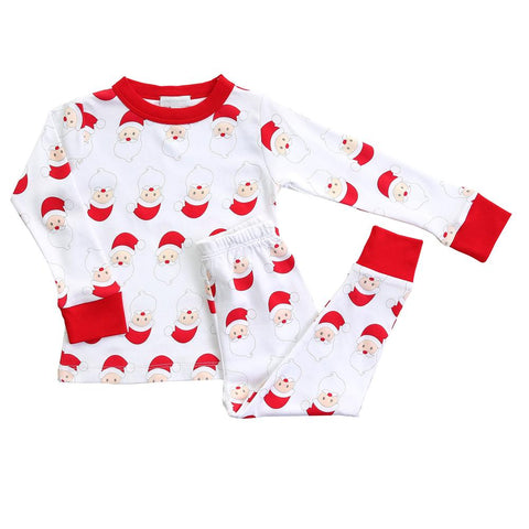 Santa Long Sleeve Pajamas w/ Red - Magnolia Baby Fall 2019  587-LP