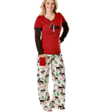 Women's Moosletoe Adult Pajamas - Lazy One