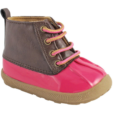 Fuchsia Duck Boot with Brown Upper - Trimfoot Baby Deer