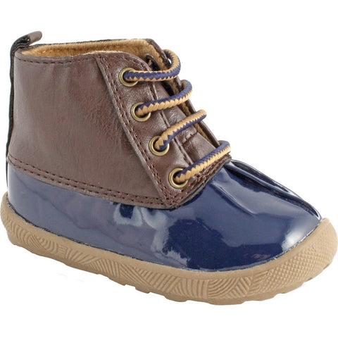 Navy Duck Boot with Brown Upper - Trimfoot Baby Deer